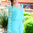 SUMMER IN SIENNA LACE ROMPER IN TEAL