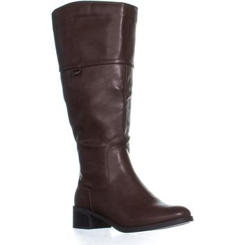 Easy Street Scotsdale Wide Calf Knee High Boots, Brown, 8 US
