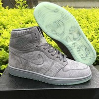 KAWS X Air Jordan 1 Cool Grey Basketball Shoes 36-47