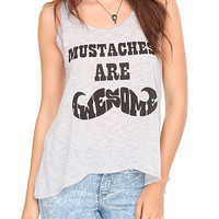 Mustaches Are Awesome Girls Tank Top