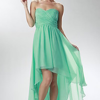 High Low Strapless Dress