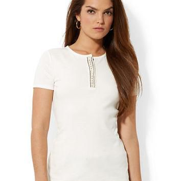 Lauren Ralph Lauren Cotton Short Sleeved T Shirt