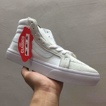 Vans SK8-Hi All White Classic Sneaker Casual Shoes