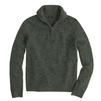 J.Crew Mens Donegal Wool Half-Zip Sweater