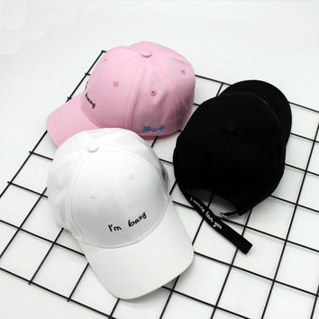 Alphabet Summer Embroidery Korean Star Cap Hip-hop Baseball Cap [11644013071]