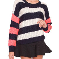 Best Time Sweater - Multi Stripe