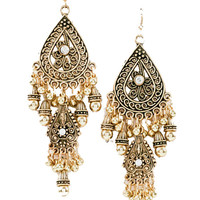 Sun Kissed Chandelier Earrings in Gold