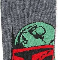 Star Wars Boba Fett Men's Crew Socks Size 6-12 Grey