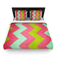Catherine McDonald COCKTAILS WITH LILLY Preppy Chevron Duvet Cover - BLACK FRIDAY 40% OFF