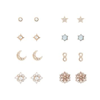 Stars and Floral Stud Set