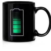 1 X ECOSCO Battery Morph Coffee & Beverage Heat Sensitive Color Changing Mug