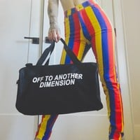 Off To Another Dimension Duffel Bag- Black