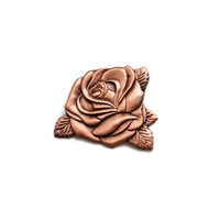Rose Gold Rose Enamel Pin