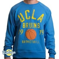 UCLA Basketball Sueded Fleece Crewneck Sweatshirt - Blue