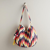 Orange and Blue Ikat Bag | World Market