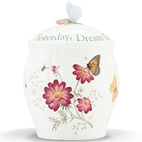 Butterfly Meadow® Sentiment Cookie Jar by Lenox