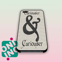 Curiouser and Curiouser Alice in Wonderland iPhone Case Cover | iPhone 4s | iPhone 5s | iPhone 5c | iPhone 6 | iPhone 6 Plus | Samsung Galaxy S3 | Samsung Galaxy S4 | Samsung Galaxy S5
