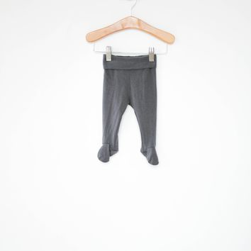 Footie Leggings in Dark Gray