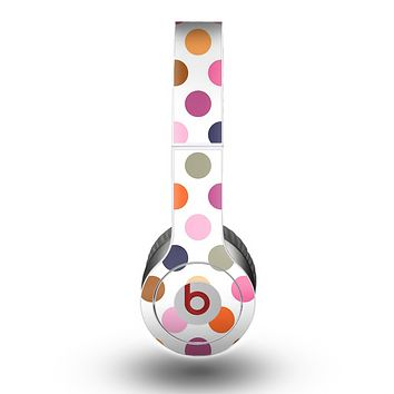 The Solid Pink & Blue Colored Polka Dots Skin for the Beats by Dre Original Solo-Solo HD Headphones