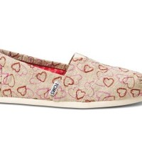 Natural Embroidered Hearts Women's Classics