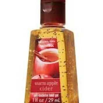 Bath & Body Works Warm Apple Cider Pocketbac Anti-bacterial Hand Gel 1 Oz