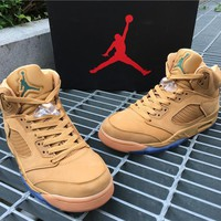 Air Jordan 5 taupe Basketball Shoes 40-46