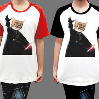 Unisex - Cat Vader Darth Starwars Star Wars Music Men Women Short Sleeve Baseball Shirt Tshirt Jersey