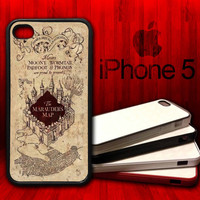 Harry Potter The Marauders Map -  iPhone 5 Rubber Protective Case