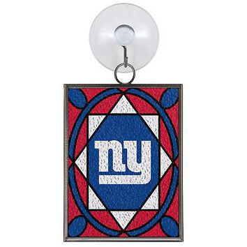 NEW YORK GIANTS STAINED GLASS SUN CATCHER/ORNAMENT NEW & OFFICIALLY LICENSED