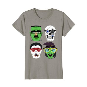 Frankenstein Dracula Witch Disguise Funny Halloween T-Shirt