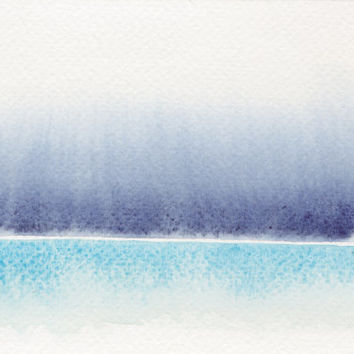 Abstract Landscape Watercolor Painting Art Original Aquarelle Contemporary Scenic Artwork