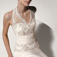 Buy Exquisite Elegant Divine Wedding Dress In Great Handwork