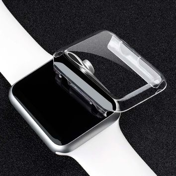 38mm/42mm  Crystal Ultra Thin Hard PC Plastic Transparent protective shell Clear  Case Cover for Apple Watch Series 1 Series 2