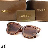 GUCCI men and women trend fashion retro big box sunglasses F-ZXJ #4