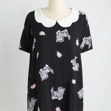 Cats Mid-length Short Sleeves Purr Your Request Top