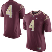 Men's Nike Garnet Florida State Seminoles No. 4 Limited Football Jersey