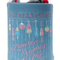 Lauren James: Boats & Floats Koozie {Seafoam}