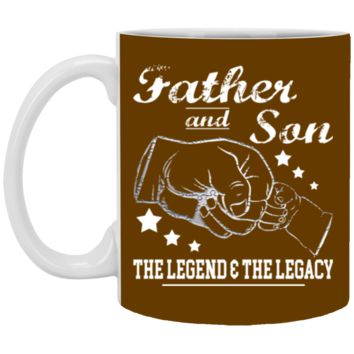 Father And Son The Legend And The Legacy shirt XP8434 11 oz. White Mug