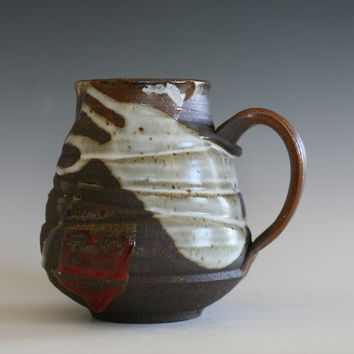 LARGE Coffee Mug, 26 oz, pottery coffee mug, ceramic cup, tea cup, stoneware mug, hand thrown mug, ceramics and pottery, unique coffee mug