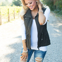 Such a Perfect Military Vest Olive