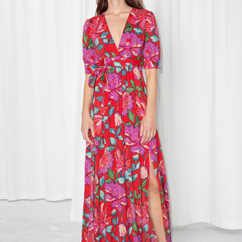 Floral Printed Dress - Red - Maxi dresses - & Other Stories US