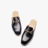 Leather Slip-on Mules