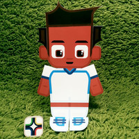 Hondouras football soccer craft activity. Printable paper toy. Instant download. Make you own cards, banners and football soccer bunting!