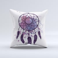 The Dreamcatcher Splatter ink-Fuzed Decorative Throw Pillow