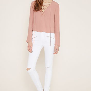 Contemporary Zip Skinny Jeans