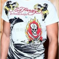 ed hardy men's fashion short sleeve t shirt ed hardy t shirt white casual t shirts
