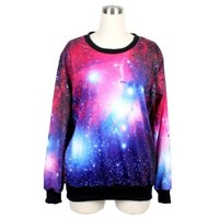 Ideasuke Funny Galaxy Purple Long Sleeves Sexy Pullover Sweatshirts