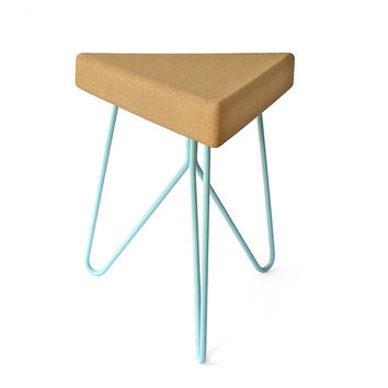 TRES | Stool.Table Blue-Light Cork by GALULA