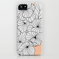Hydrangea Peach iPhone & iPod Case by gabi press