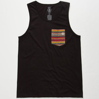 Volcom Zig Stripe Mens Tank Black  In Sizes